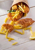 high-angle-of-fish-and-chips-dish-in-pap