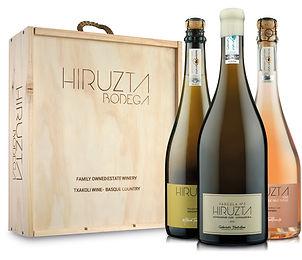 Caja de madera Hiruzta Txakolina Premium