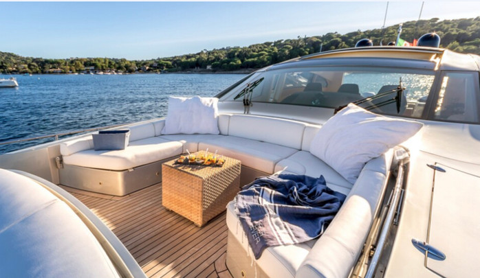 Bow deck sunbaths