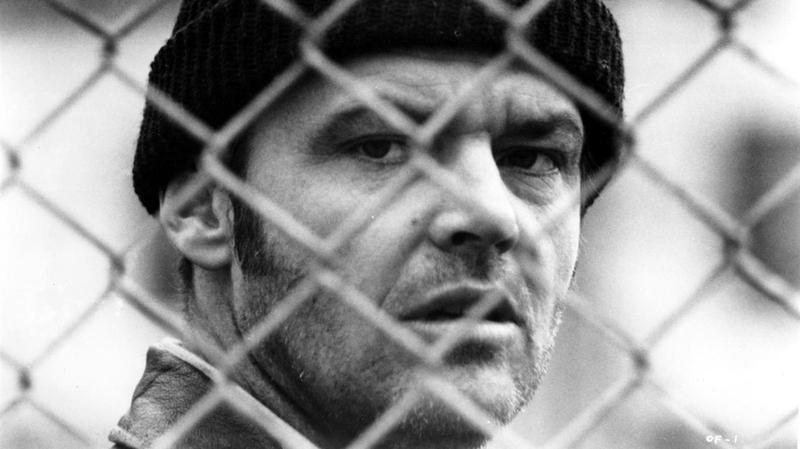 Jack Nicholson em Um estranho no ninho.