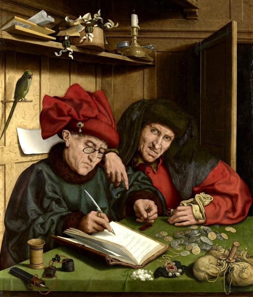 O Avarento por seguidores de Marinus van Reymerswaele