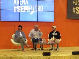 Bienal proporciona um bate-papo descontraído com Bruno Mazzeo e Lucas Rangel