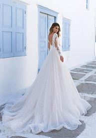 Сватбени рокли и булчински рокли Elly bride.Сватбена рокля Лейна на дизайнерските булчински рокли на Elly Bride / Elly Haute Couture е в а-линия