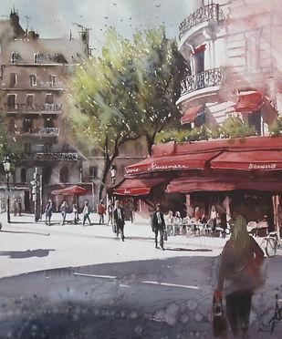Pause café à la brasserie Haussmann 50X5