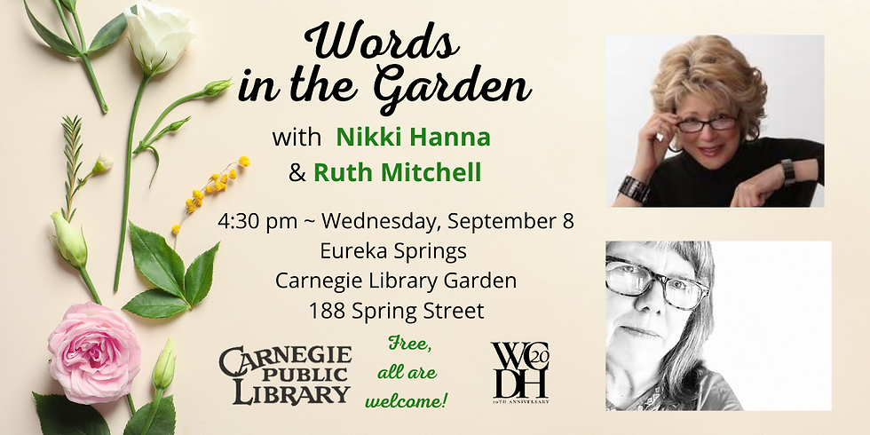 Words in the Garden with Nikki Hanna and Ruth Mitchell