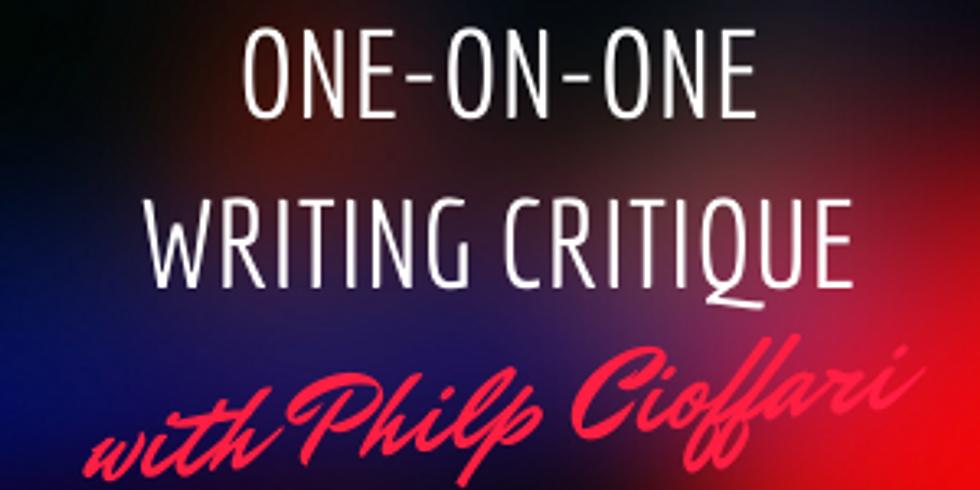 One-on-One Critiques with Philip Cioffari