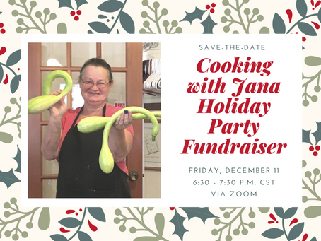 """Writers' Colony at Dairy Hollow Presents """"Cooking with Jana"""""""