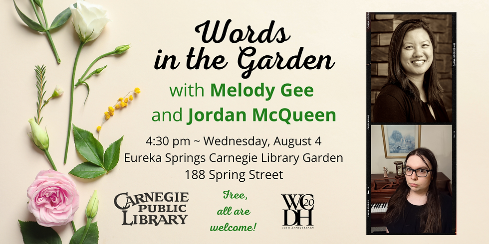 Words in the Garden with Melody Gee and Jordan McQueen