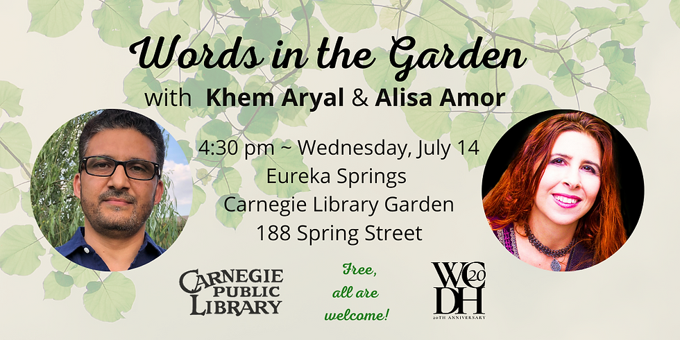 Words in the Garden featuring Khem Aryal and Alisa Amor