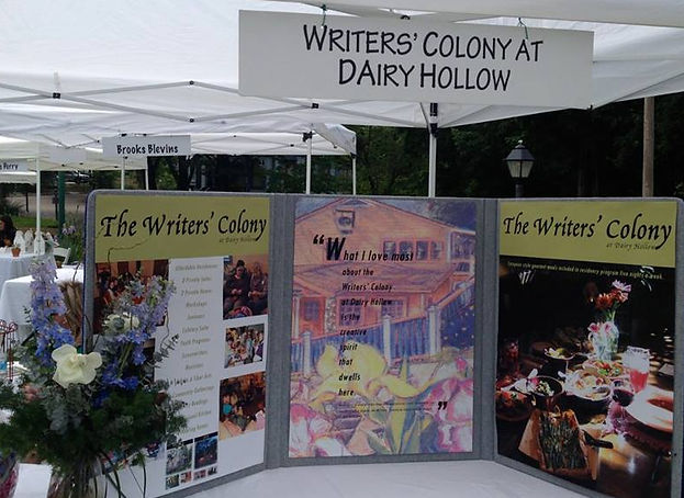 Writers' Colony tent at Books in Bloom 2016