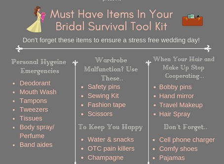 Must Have Items in your Bridal Tool Kit