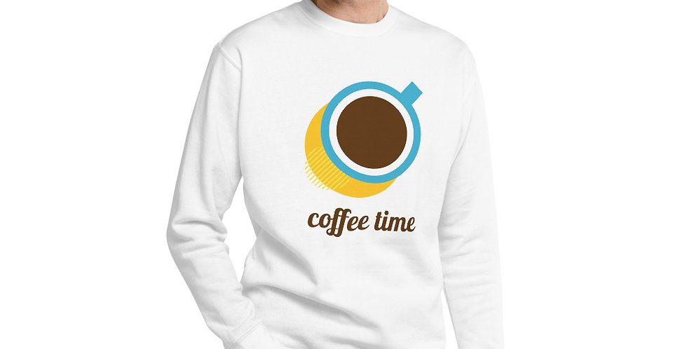 Coffee Time Unisex Fleece Pullover