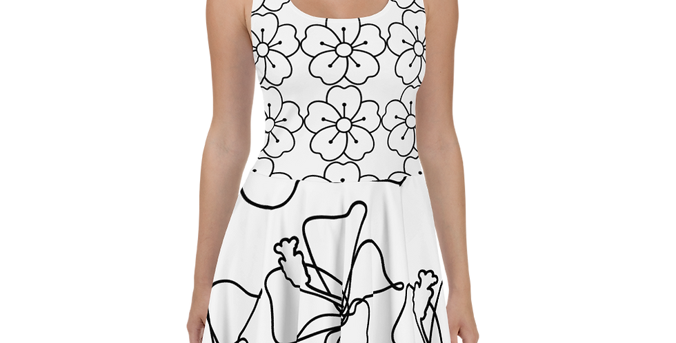 Flower Print Skater Dress