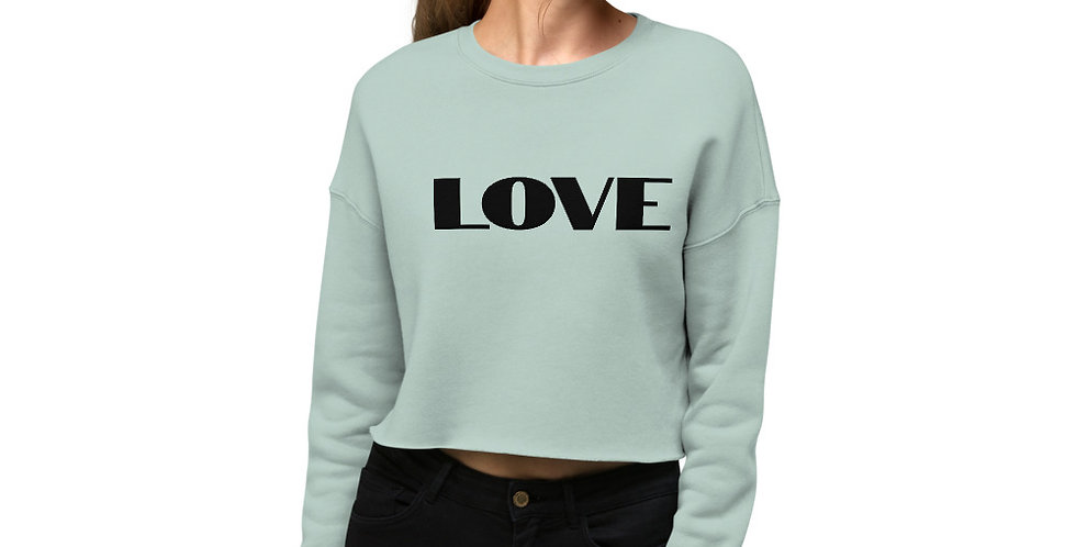 Bearboxers LOVE Crop Sweatshirt