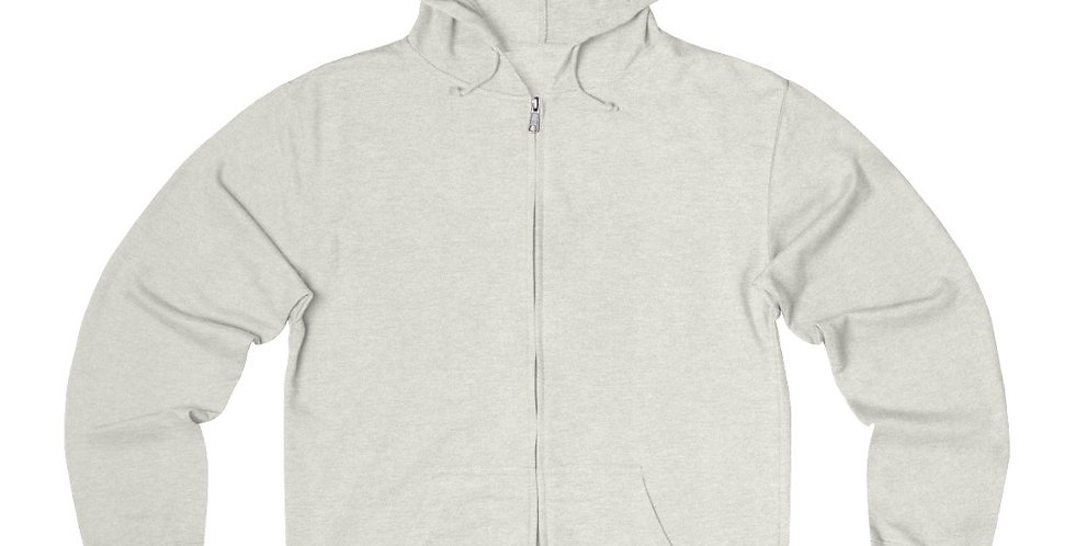 Plus Size Unisex French Terry Zip Hoodie