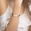 Thumbnail: Engraved Silver Bar String Bracelet