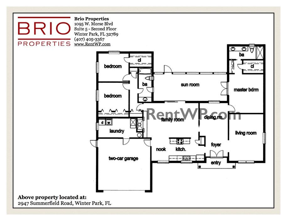 2947 Summerfield Rd. Floor Plan