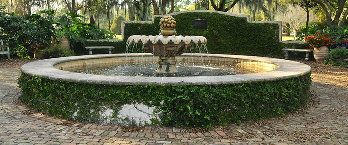 Fountain in Central Park, Winter Park, FL
