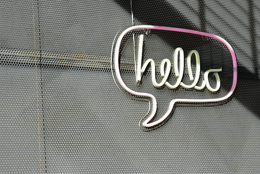 contact page hello sign