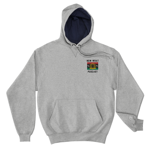 Light Steel Champion Hoodie - Men Embrodiery