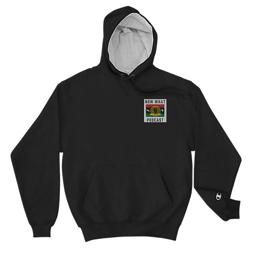Black Champion Hoodie - Embroidery