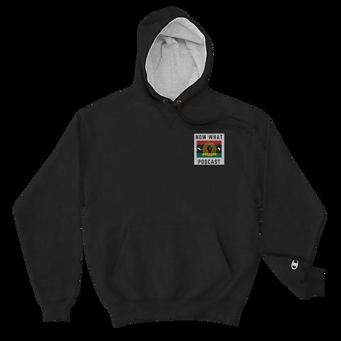 Black Champion Hoodie - Men Embroidery