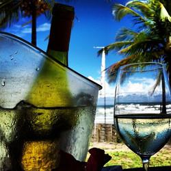 Vinho, coqueiro, mar e sol...