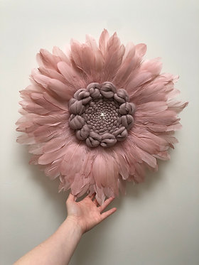 Lew (Lion) Feather wall hanging (Pink Goose) MADE TO ORDER
