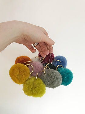 Choose your colour - Mannbluv pel (fluff ball) 6 decorations MADE TO ORDER