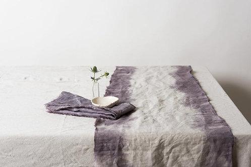 Shibori Dyed Linen Table Runner