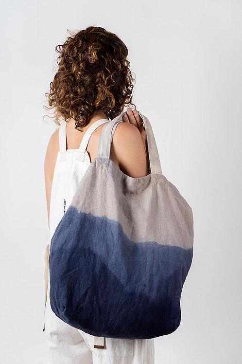 Linen Shibori Tote Bag