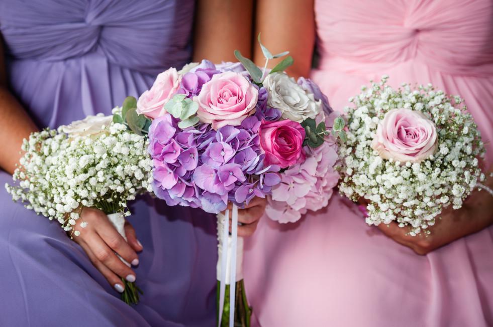 Brides maides flowers
