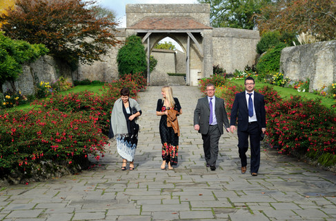 lympne castle wedding guests