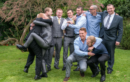 guys at the wedding