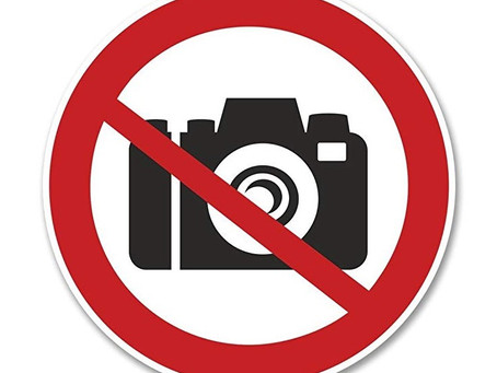 BEWARE !  -  Holiday locations you not allowed to take photographs of