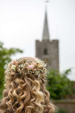 Bride and church
