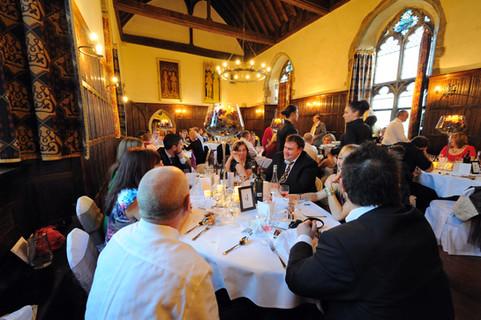 lympne castle wedding meal