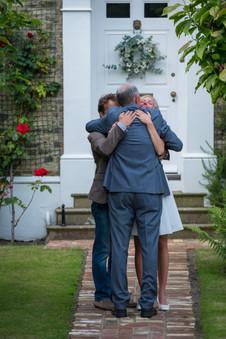 a wedding hug
