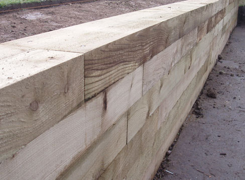 Softwood Sleeper - Retaining Wall