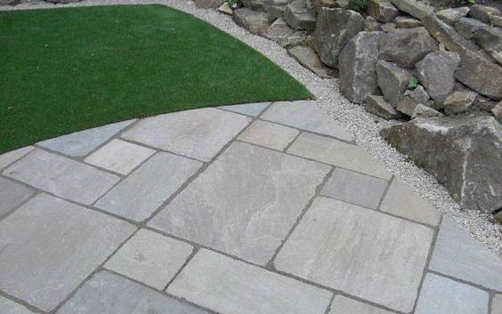 Tumbled Light Grey Sandstone