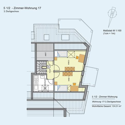 5 1/2 Zimmer Wohnung 124,51 m²