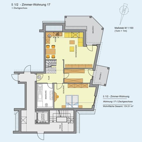 5 1/2 Zimmer Wohnung (1) 124,51 m²