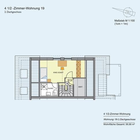 4 1/2 Zimmer Wohnung 98,88 m²
