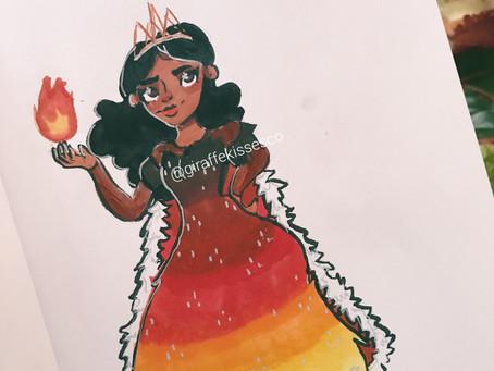 Fire Queen Doodle