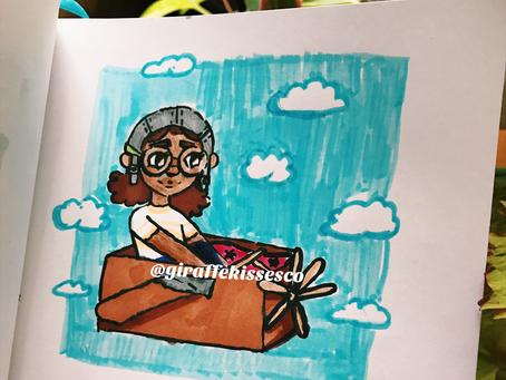 Bessie Coleman Inspired Doodle