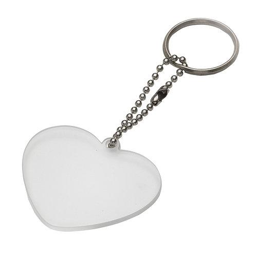 100 Chaveiros de Plástico Formato de Coração Personalizados