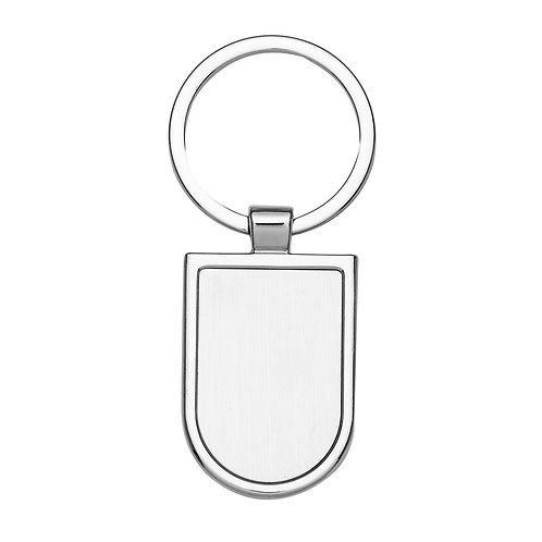 100 Chaveiros de Metal Formato Escudo Personalizados
