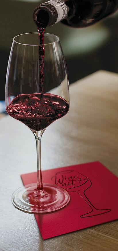 Tovagliolo in ovatta - Wine Not Merlot