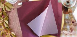 Tovagliolo in Ovatta - Bicolor Bordeaux/Rosa Pastello