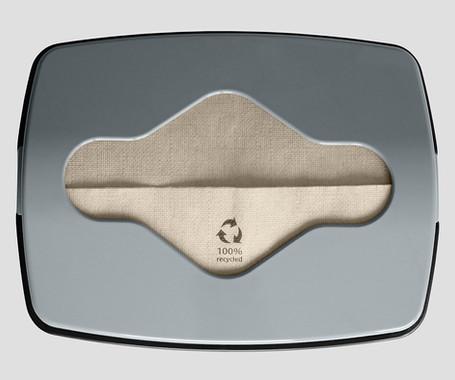 Distributore tovaglioli F34 con tovagliolo in carta eco-friendly